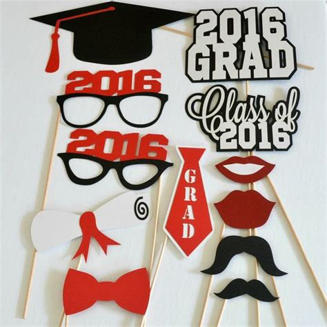 graduation photo booth props printable 2016 1000 ideas about graduation centerpiece on pinterest