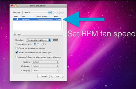 smc fan imac the fan speed of your mac laptop