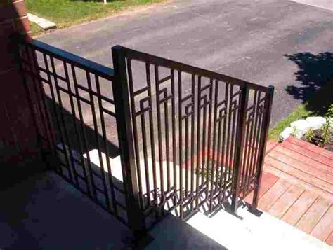 cast iron metal railings for stairs porches and decks