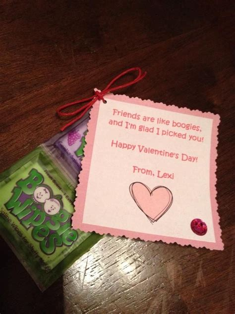 valentines gift for baby boogie wipe valentines for infant or toddler daycare