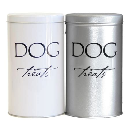 treat canister harry barker treat canisters silver and white designer boutique glamourmutt
