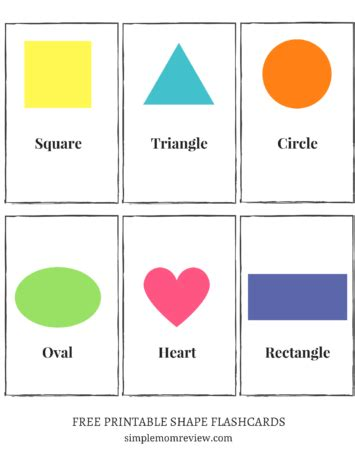 free shape flashcards for kids totcards free printable shapes simple mom review