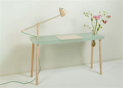 Resin Desk by Polyester Resin Desk With Embedded Ash L And Glass Vase