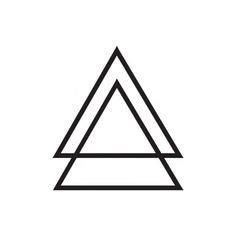double triangle tattoo meaning what does a triangle quora tattoos