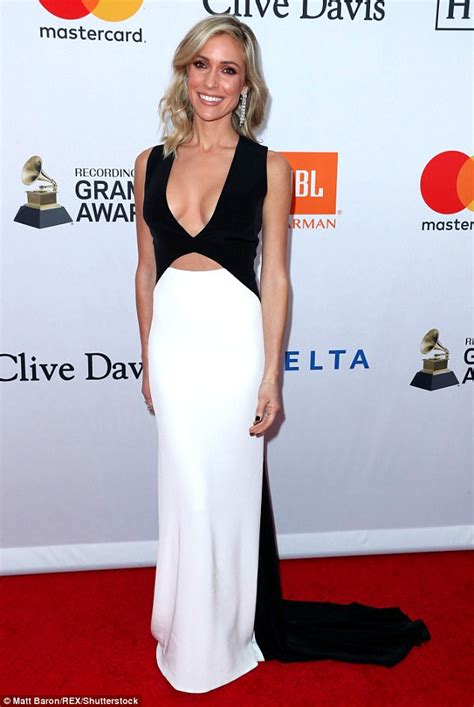Kristin Dress kristin cavallari shows stunning figure in plunging dress