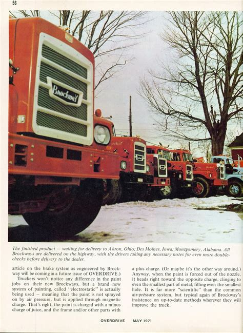 most rugged truck photo may 1971 brockway the most rugged truck in the world 21 05 overdrive magazine may 1971