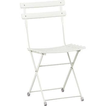 white folding bistro chairs pronto large white folding bistro table crate and barrel