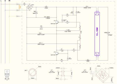 wiring diagram for electronic ballast diagram