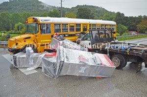 Investigated In Garrison Crash by Only Minor Injuries In Crash Involving Loaded School