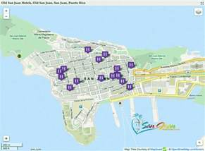 San Juan Puerto Rico Map by San Juan Hotels Map Puerto Rico Full Maps