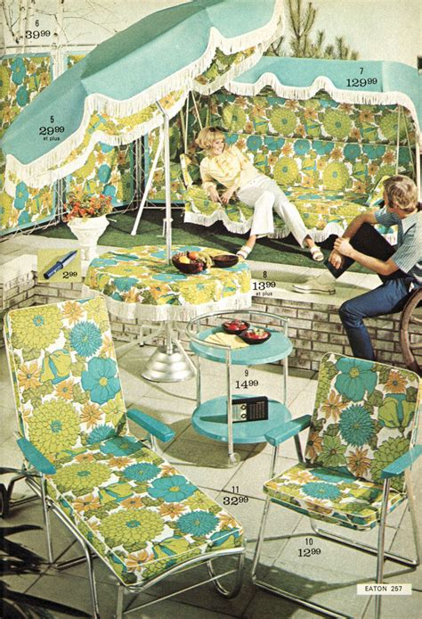 post war vintage        patio furniture   sears catalog