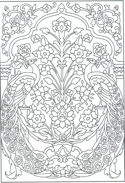 nature scapes coloring pages peacock coloring page for adults 1 31 color pages