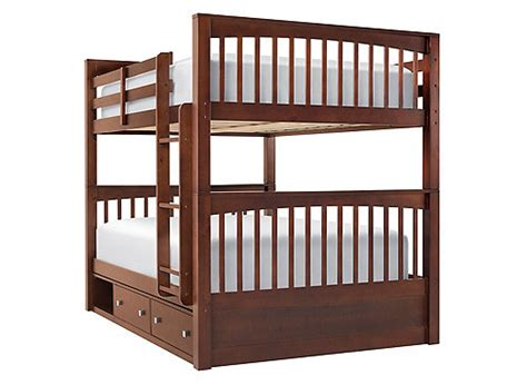 full over full bunk beds with storage jordan full over full storage bunk bed cherry raymour