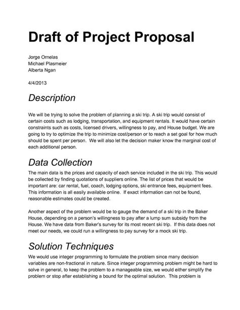 how to write a project proposal template 2 best agenda