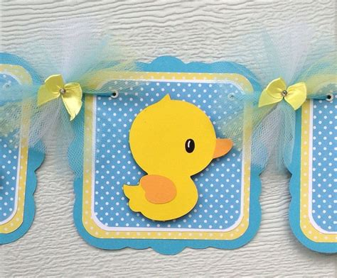 Duck Baby Shower Banner by Duck Baby Shower Banner Baby Boy Decorations It S A Boy