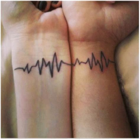 heartbeat lifeline tattoo epic ink tattoos for loved up couples articles easy