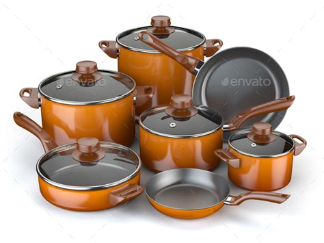 Pots Kitchen Menu by Pots And Pans Set Of Cooking Kitchen Utensils And