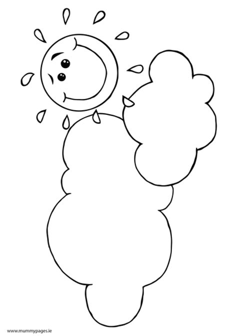 smiling sun coloring page smiling sun clouds colouring page mummypages mummypages ie