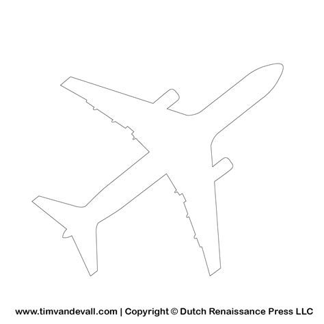 template drawing free airplane silhouette stencil and outline clipart for