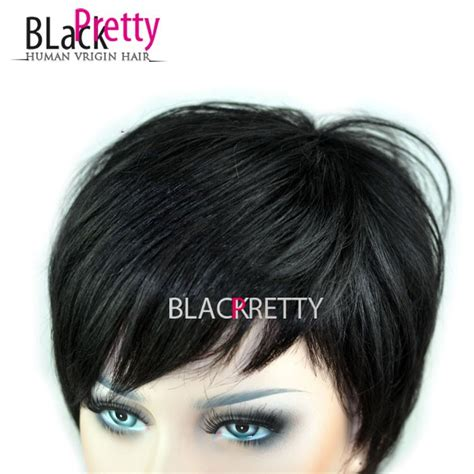 short boy cut wigs natural wigs sale 2015 new pixie cut human natural hair wig rihanna black