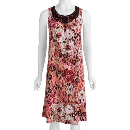 Dress Whitestag white stag womens printed sleeveless dress walmart