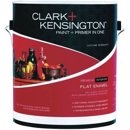 clark kensington paint and primer in one premium interior flat enamel gallon interior paint