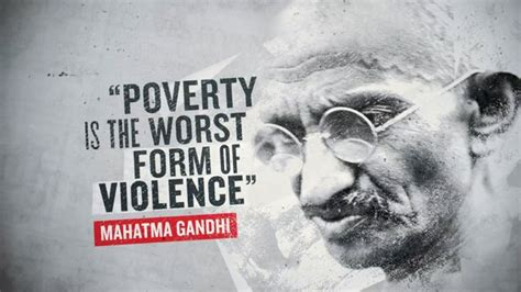 poverty   worst form  violence mahatma gandhi violence quote