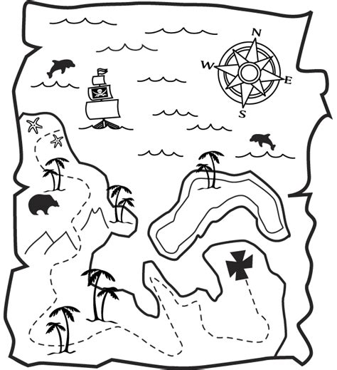 free coloring pages of pirate map