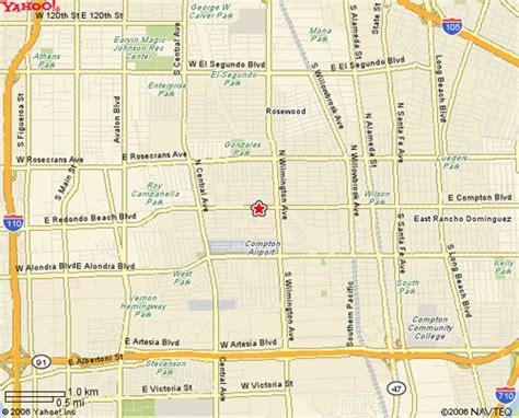 california map compton los angeles map compton