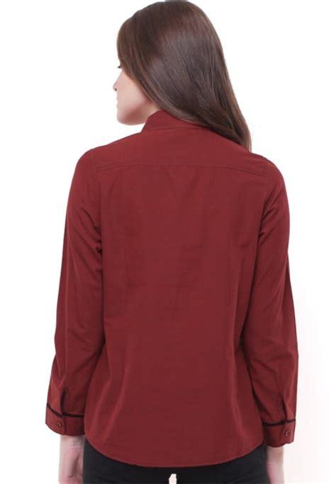 Dress Wanita Warna Ungu Slim And Fit Xssml New Kode 27370 slim fit kemeja wanita lengan panjang garis hitam merah
