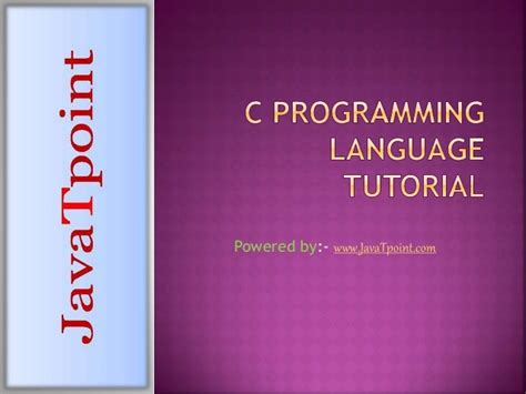 c language pattern programs pdf c programming language tutorial