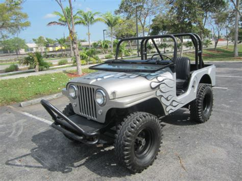 custom paint jeep 1956 jeep willys custom paint 4x4 army jeep runs
