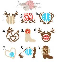 monogram ideas vinyl country monogram decals are made to order these