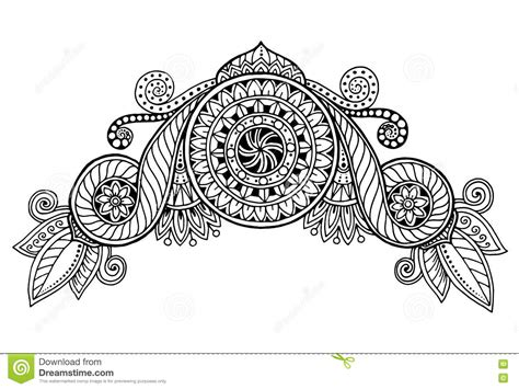 henna paisley mehndi doodles design tribal design element