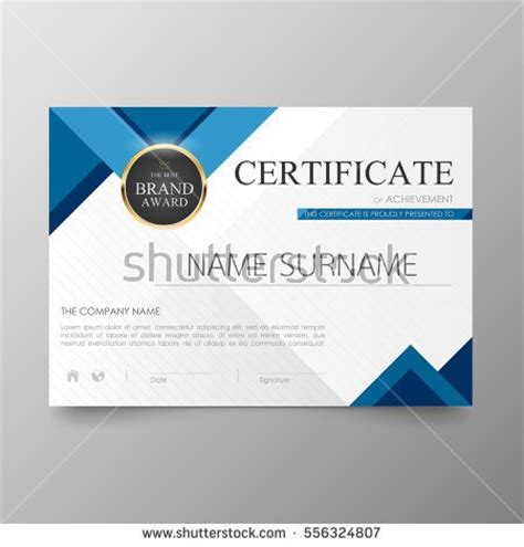 Certificate Template Stock Images Royalty Free Images Vectors Shutterstock Award Email Template