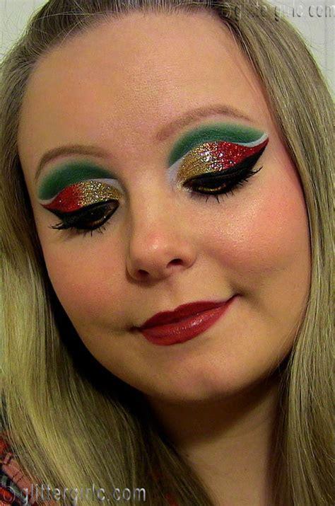 christmas makeup glittergirlc