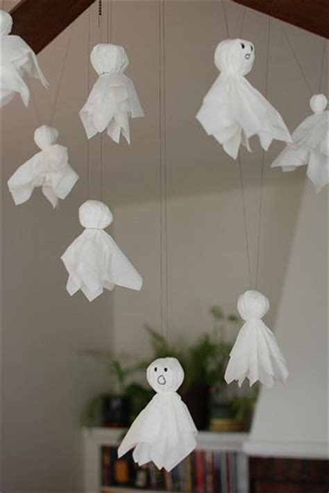 make your own halloween decorations gardening with children kleenex ghosts easy cheap halloween craft why is it we
