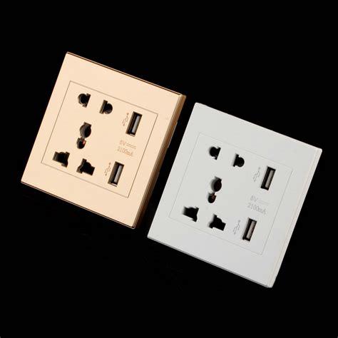 Werstan Ac Universal Socket 2 1 high quality universal usb wall socket ac 110 250v us uk