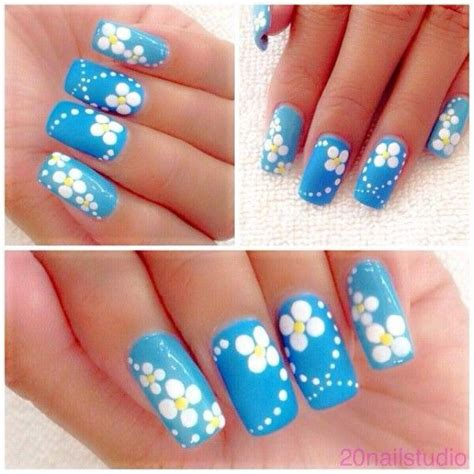 daisy pattern nails u 241 as decoradas con flores m 225 s de 60 im 225 genes e ideas