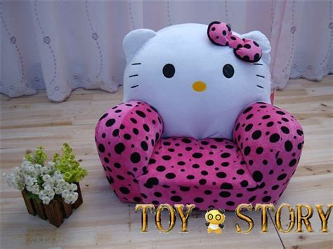 hello cat stuffed animal sofa chair in office