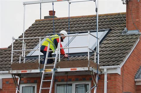 solar panel installers work platform for installation of solar panels speed up and make safer solar panel installation