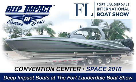 boat show usa deep impact boats at the fort lauderdale international