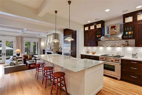 white kitchen island with granite top 50 gorgeous kitchen designs with islands designing idea