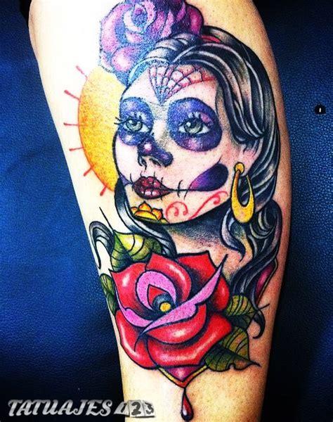 tattoo 3d en la pierna catrina tradi tatuajes 123