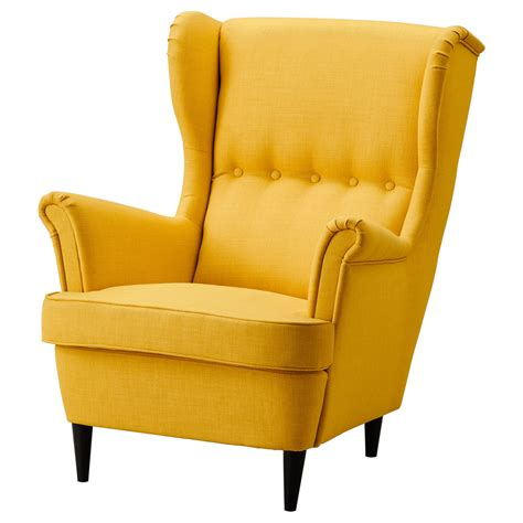 Armchair Strandmon by Strandmon Wing Chair Skiftebo Yellow