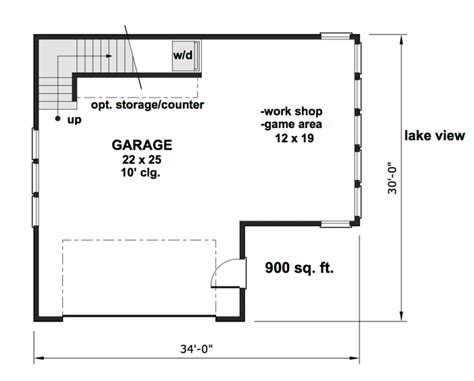 Cave Garage Plans by Carriage House Plan With Cave Potential 14653rk