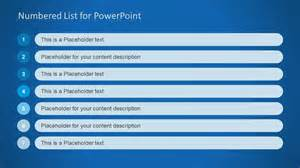 Powerpoint List Templates by Numbered List Template For Powerpoint Slidemodel