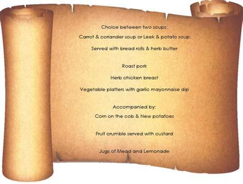 medieval banquet menu www pixshark com images