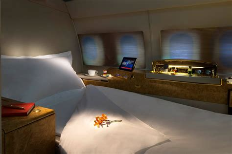 private jet with bed a look in emirates new private jet with private suites