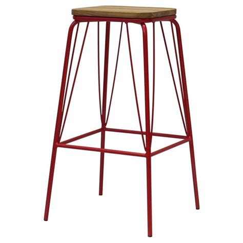 metal bar stool with wooden seat buy warehouse style solid wood metal bar stool from fusion living